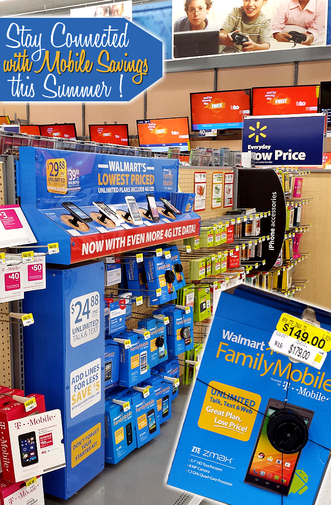 #Save4Summer with affordable unlimited talk, text, data, and web service as low as $29.88 for the first line through Walmart Family Mobile. #ad
