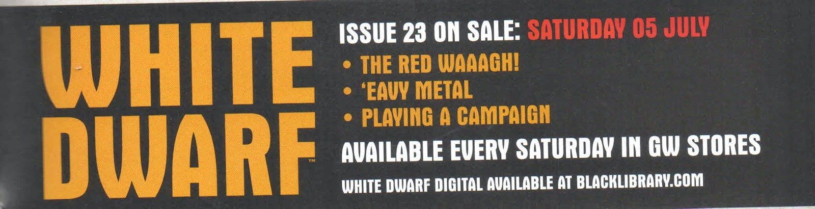 Adelanto de White Dwarf Weekly número 23