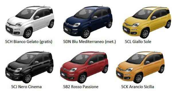 Fiat Panda 4x4 Cross Colori Disponibili