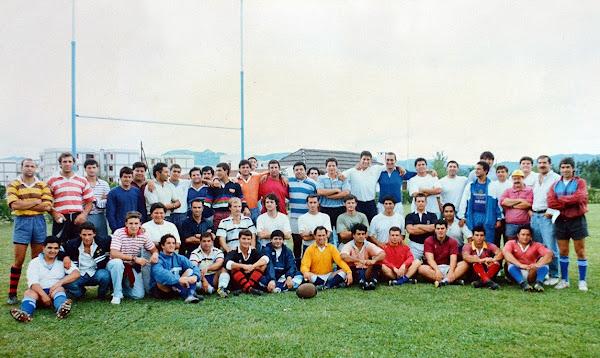 Entrenamiento de la 1ra División de Gimnasia y Tiro previo a su gira por Oceanía 1994