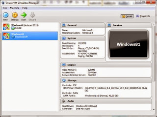 VirtualBox for Windows 8.1 Preview