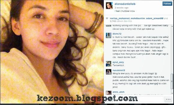 Gambar Diana Danielle Susukan Anak Jadi Kritikan Peminat