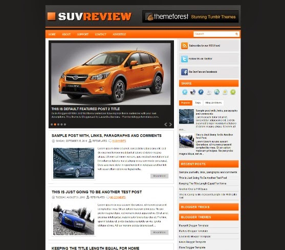 SuvReview Blogger Template