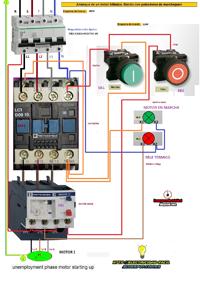 motor trifasico mando con pulsadores marcha paro
