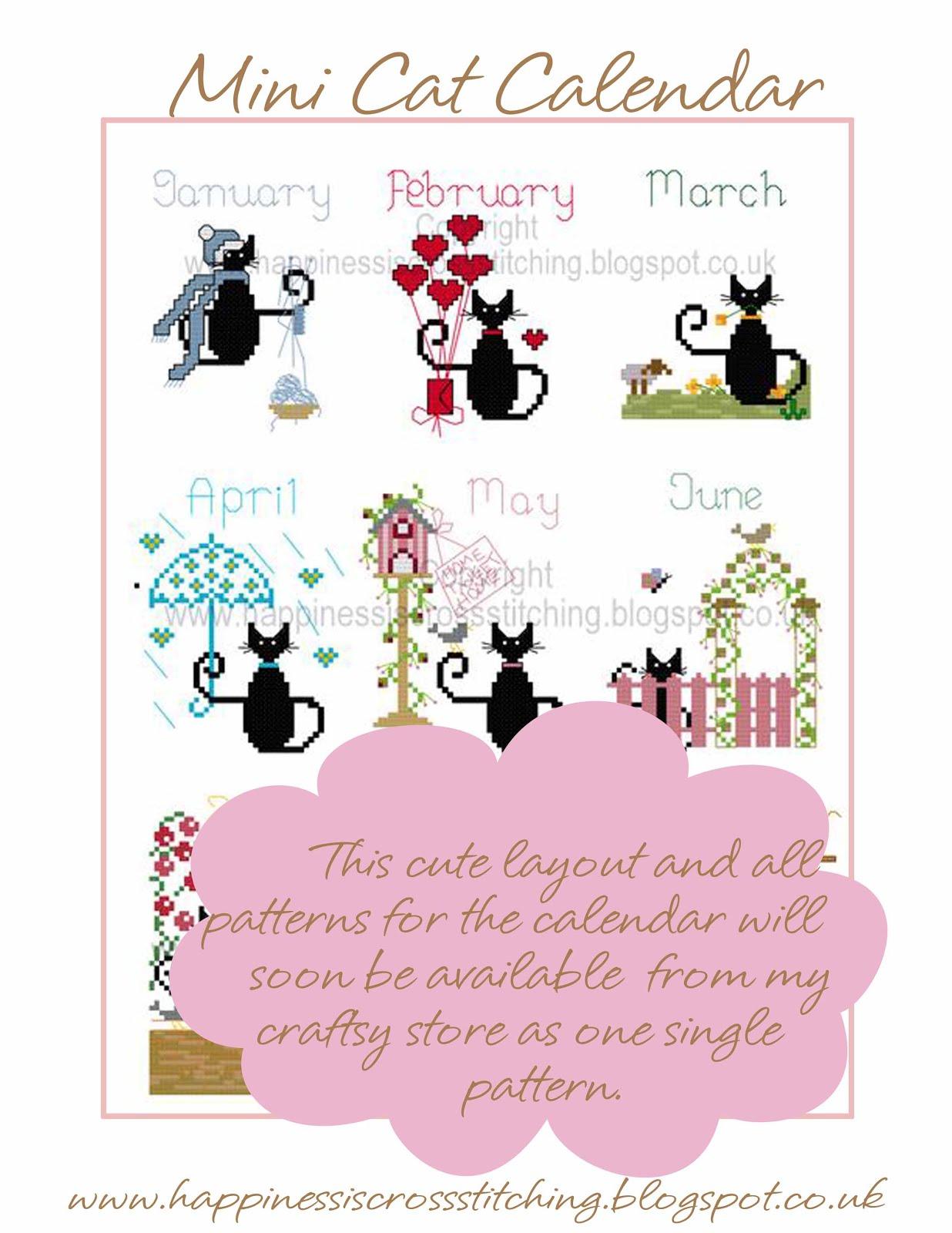 Mini Cat Calendar Layout