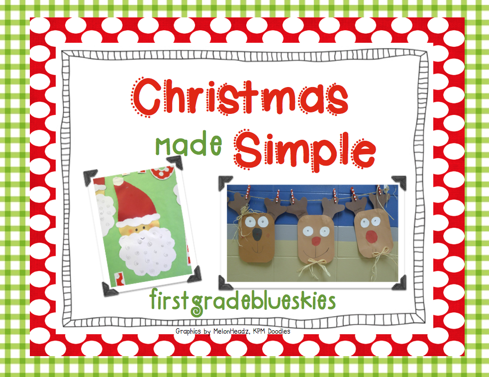 first grade blue skies easy holiday craft pack giveaway