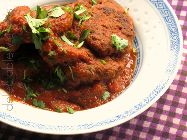 kofta eggplant zucchini beet sauce curry indian