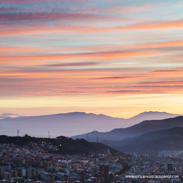 Fotografia amanecer Barcelona montaña