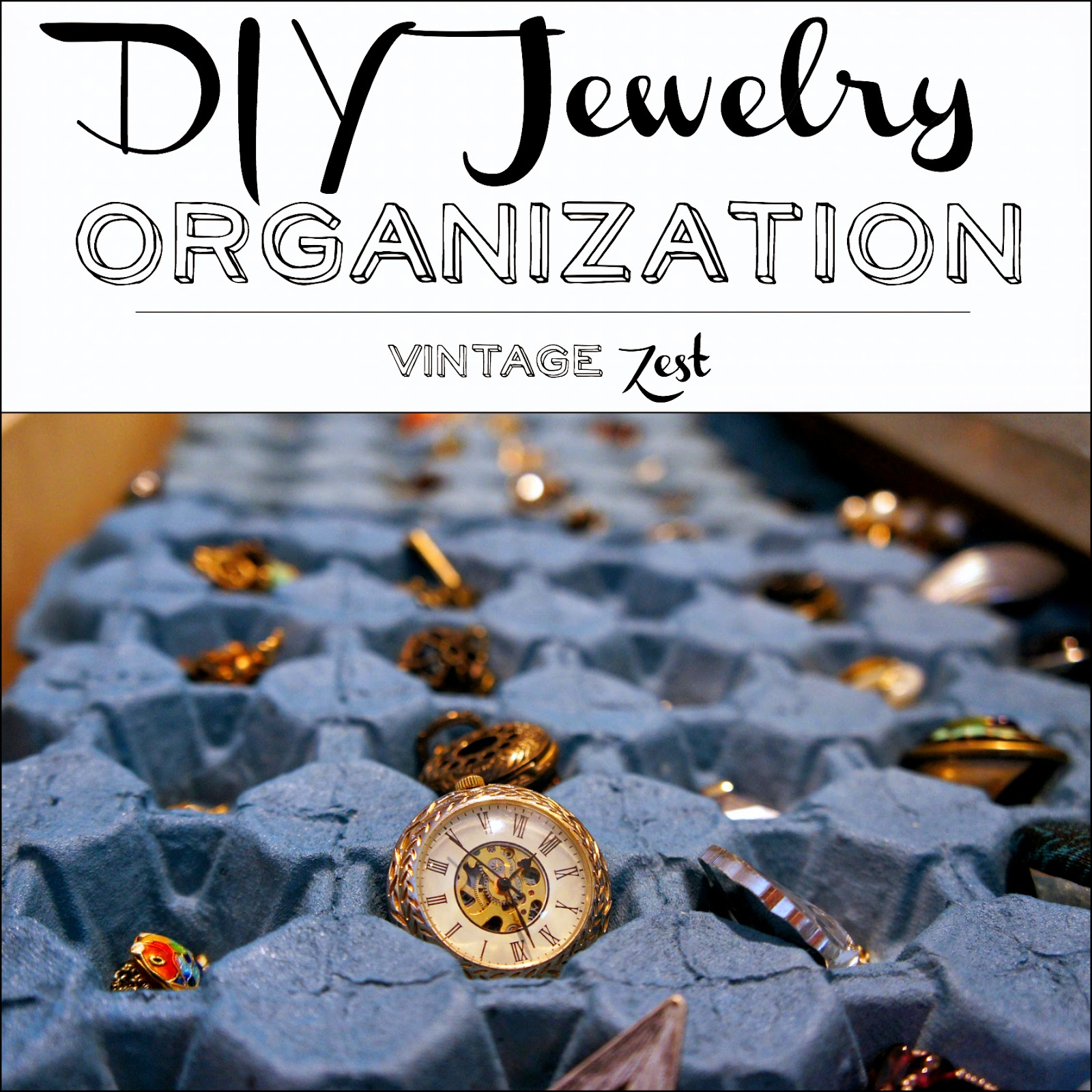 DIY Jewelry Organization on Diane's Vintage Zest!