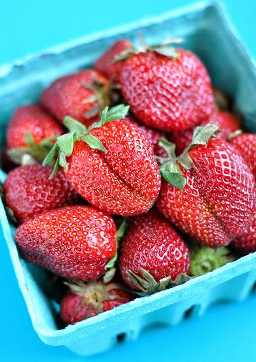 Fresh Local Farmers Market Strawberries