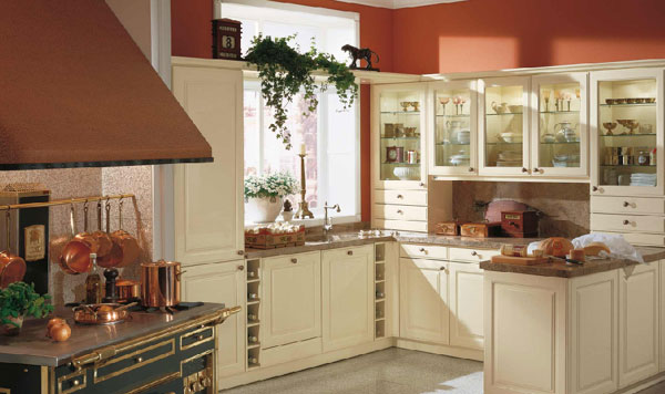Meble do kuchni Kuchnia w stylu wiejskim  modne retro -> Tania Kuchnia Retro