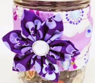 Decorate your mason jar with a cozy and fabric flower made with Clover Kanzashi Flower Maker