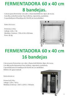 fermentadoras 8 y 16 bandejas 60x40