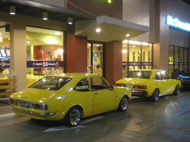 Toyota Corolla KE-25 & 1979 Mitsubishi Lancer A-72, japońskie coupe, klasyk