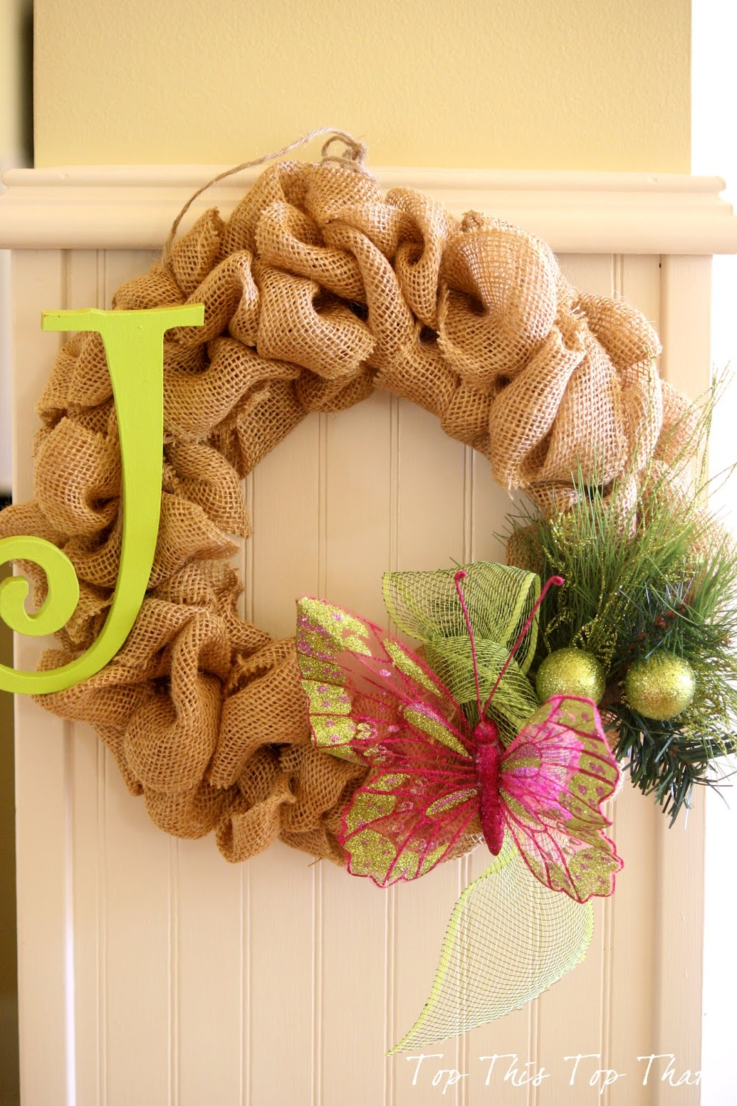 Ideas additional instructions for original burlap wreath Burlap xmas wreath