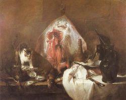 Bodegon 1728 de Jean Baptiste Siméon Chardin. (Francia1699-1779)