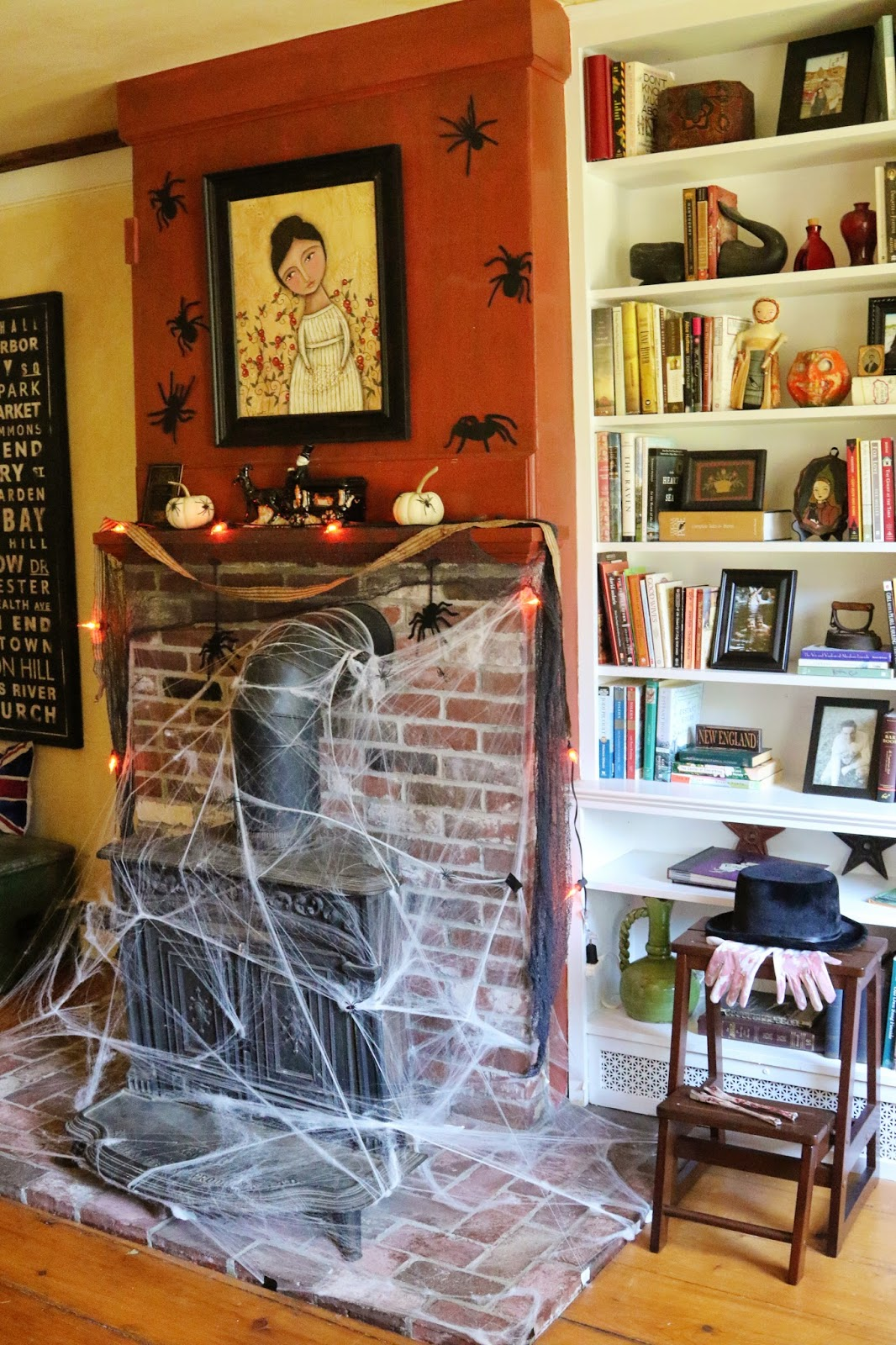 New England Living Room New England Living Halloween House Tour Funeral Parlor