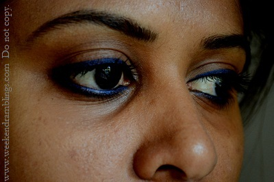 maybelline gel liner lasting drama eyestudio sapphire swatches reviews eotd eye makeup ingredients