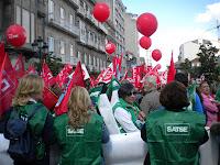 Contra recortes en sanidad y educación en Vigo, abril 2012