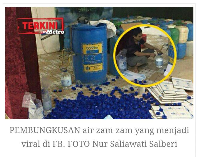 Sindiket proses air ZAMZAM TIRUAN di Melaka