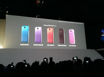 Samsung ha annunciato i nuovi 5 colori dedicati al suo smartphone top di gamma Galaxy S IV durante l'evento a Londra di pochi giorni fa.