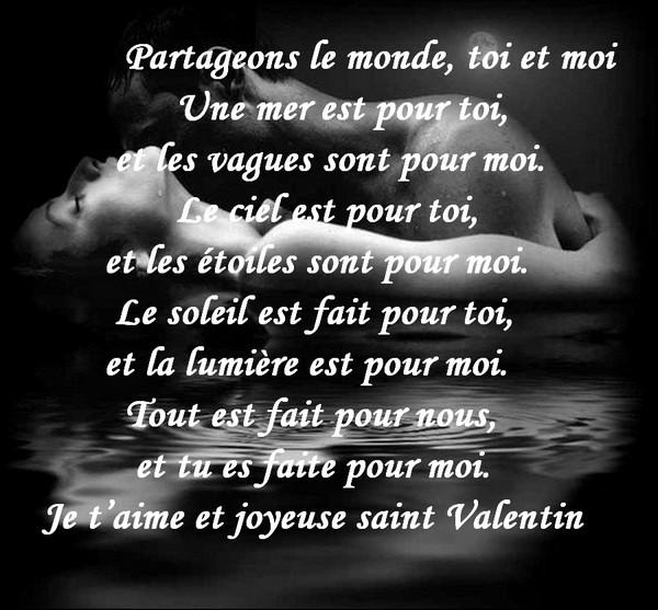 Message d 39 amour et d 39 amiti carte saint valentin - Poeme d amour a imprimer ...