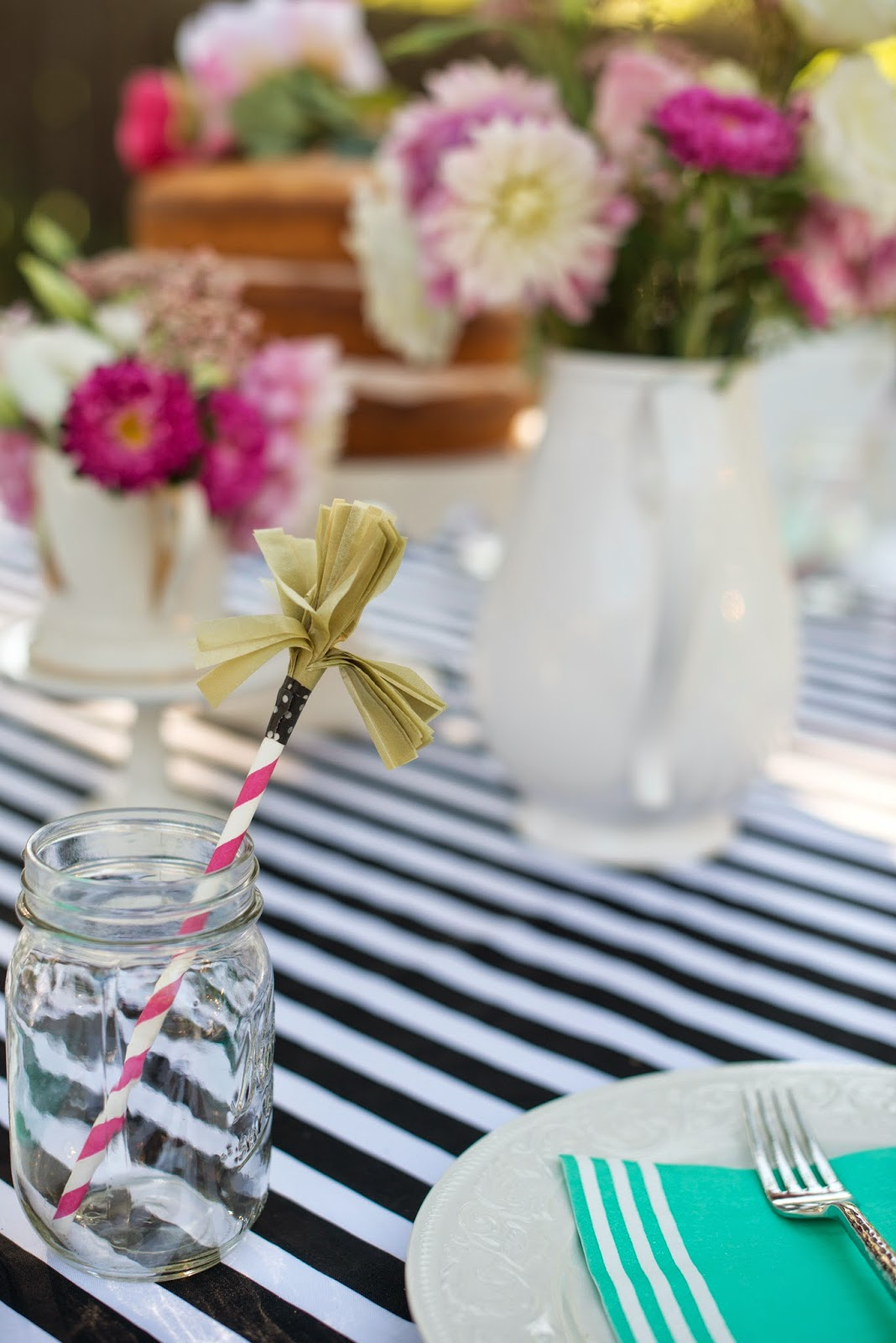 Tissue paper tassel tutorial - For Each Drinking Cup I Made Up These Tissue Paper Tassels With Paper Straws