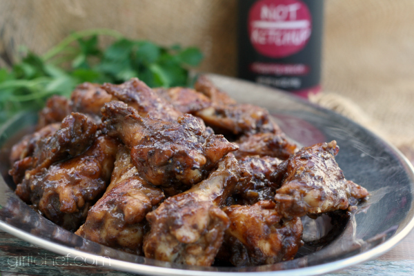Spiced Fig and Garlic Chicken Wings #10DaysofTailgate #chickenwings #appetizer | girlichef.com