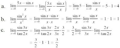 pembahasan limit fungsi trigonometri