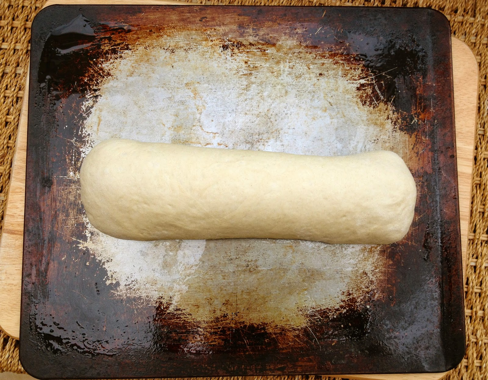 pestobswirl bread before baking