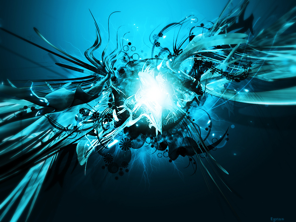 Shiny Blue Abstract Picture Abstract Graphic Wallpaper