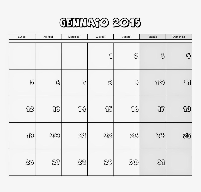 Famoso Voglio Una Mela Blu: Calendario mensile 2015 da scaricare gratis e  NL88