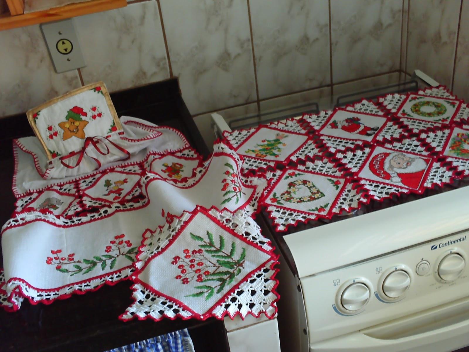 La Os Retalhos Paninhos Para Cozinha Com Motivos De Natal