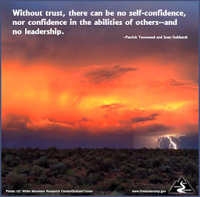 Without trust, there can be no self-confidence, nor confidence in the abilities of others--and no leadership. –Patrick Townsend and Joan Gebhardt