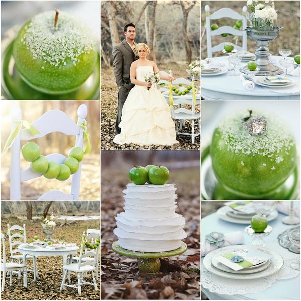 zielone jabłko inspiracje ślubne