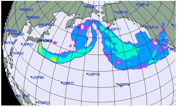 Fanatic cook salmon migration routes and japans radiation plume this is a map of wild salmon migration routes in the middle and north pacific ocean off the coast of alaska gumiabroncs Images