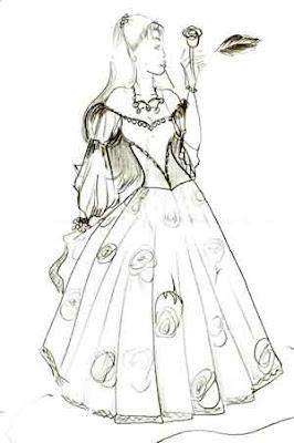 Desenhos Para Colorir Roupas de princesa