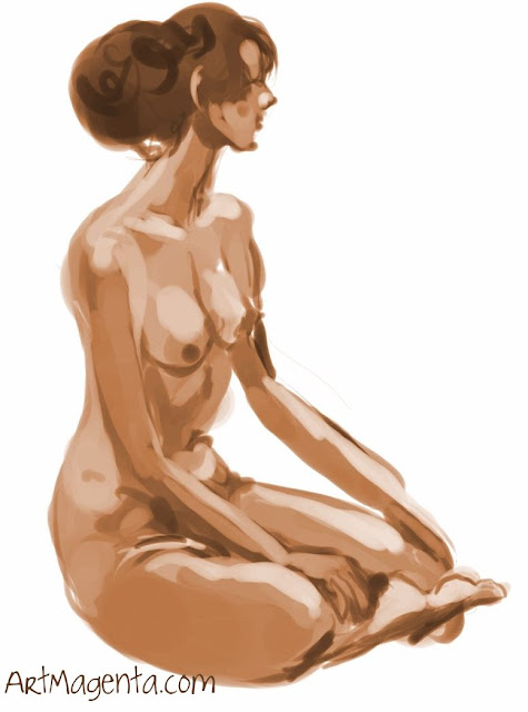 A figure drawing by artist Artmagenta