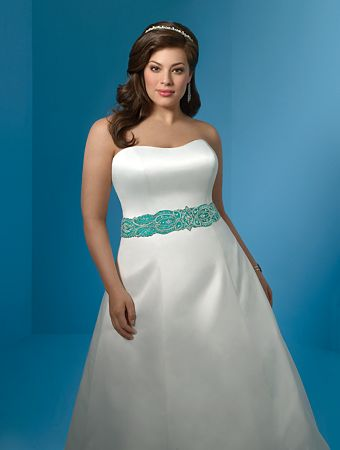 Vestido de novia para mujer con mucha cadera
