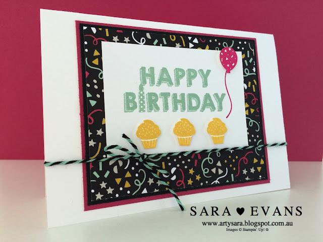 Sara Evans - Stampin' Up! Its My Party Card