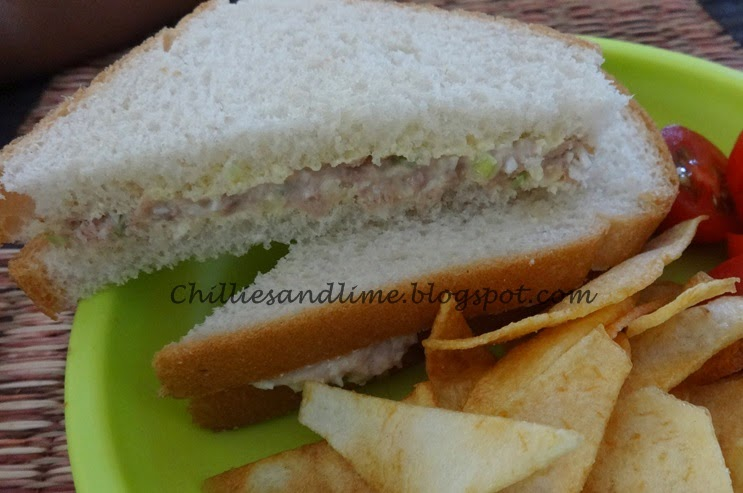 Chillies and lime tuna and egg sandwiches for Tuna and egg sandwich