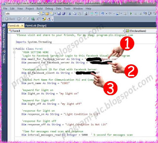 facebook account setting in visual basic