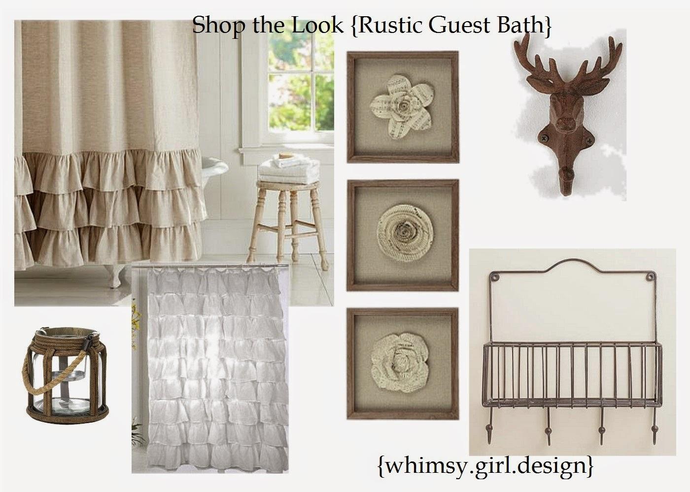 Link Antler Wall Hook Flower Decor Set Of 3 Linen Shower Curtain Or A Less Expensive Alternative White Ruffle