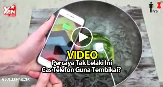 Video: Percaya Tak Lelaki Ini Cas Telefon Guna Tembikai?