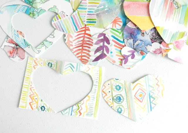 Watercolor Paper Hearts: grow creative