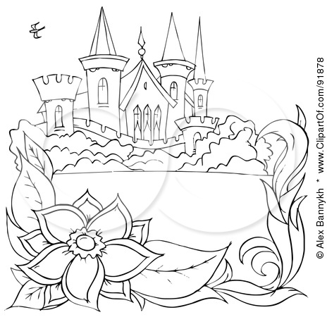castle coloring page Free Coloring