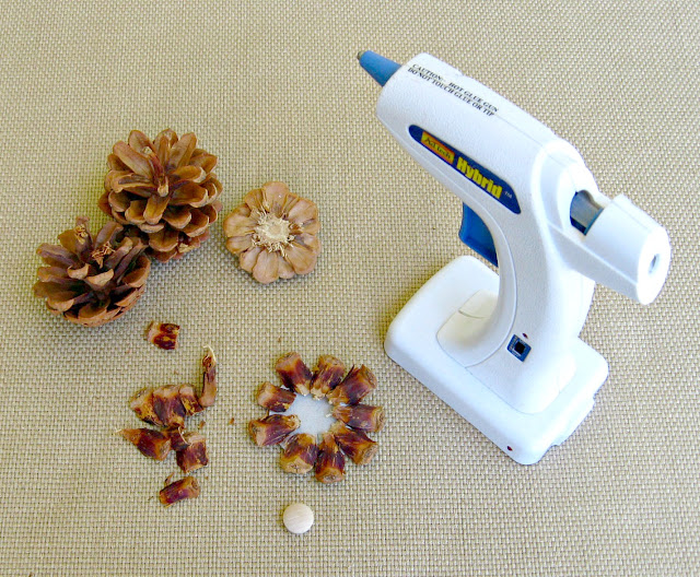 Making Pine Cone Flower 