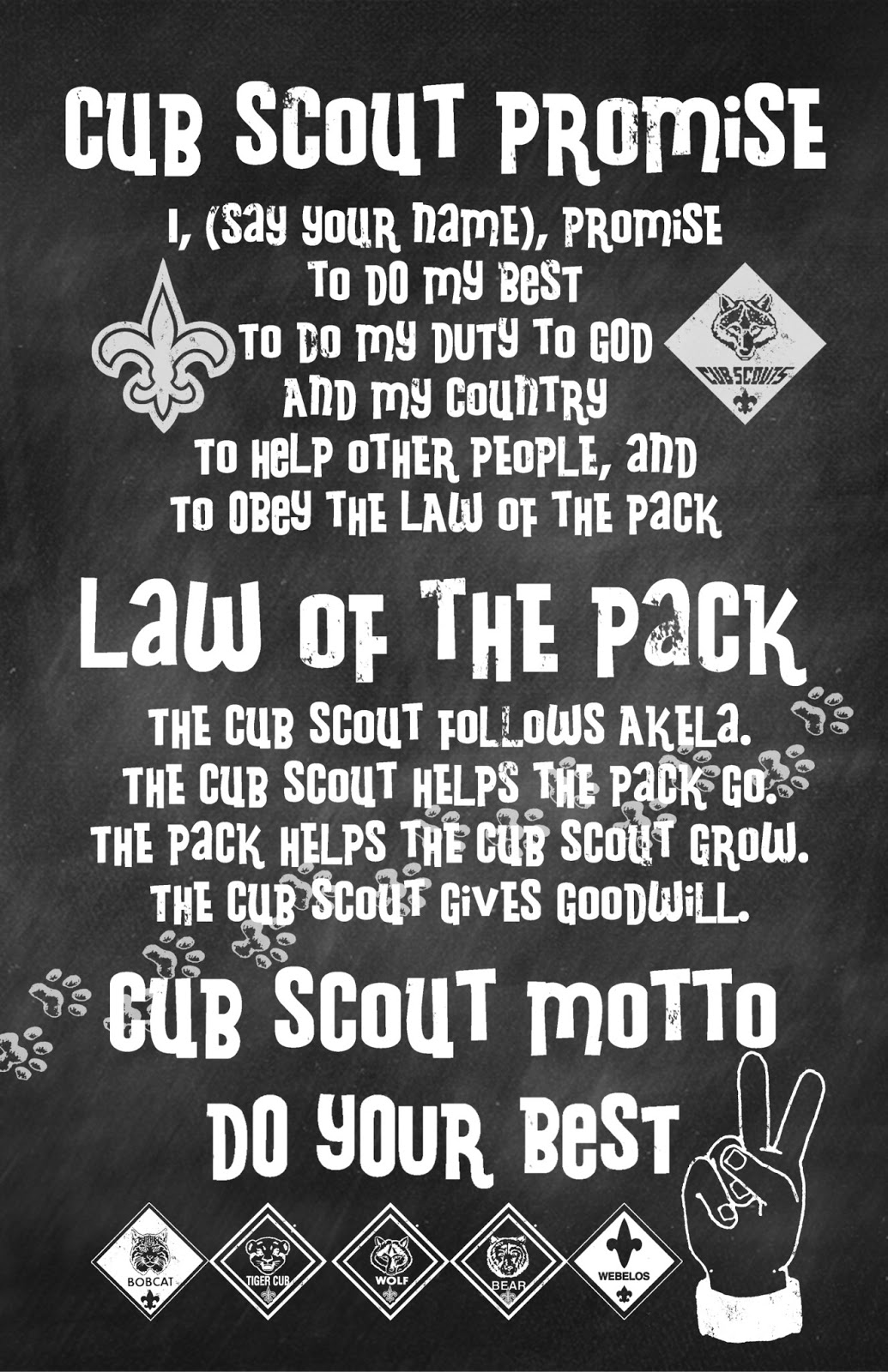 It's just an image of Juicy Cub Scout Oath Printable