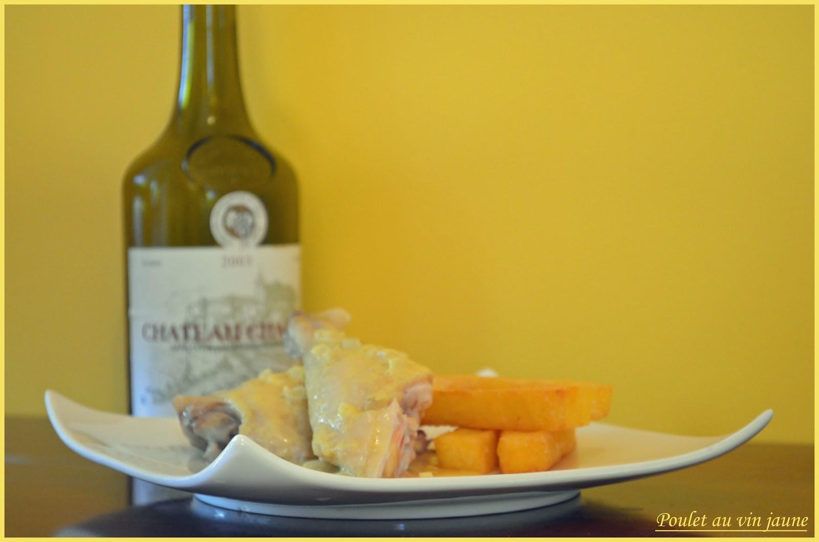 frites de polenta et poulet au vin jaune jaune blogs de cuisine. Black Bedroom Furniture Sets. Home Design Ideas