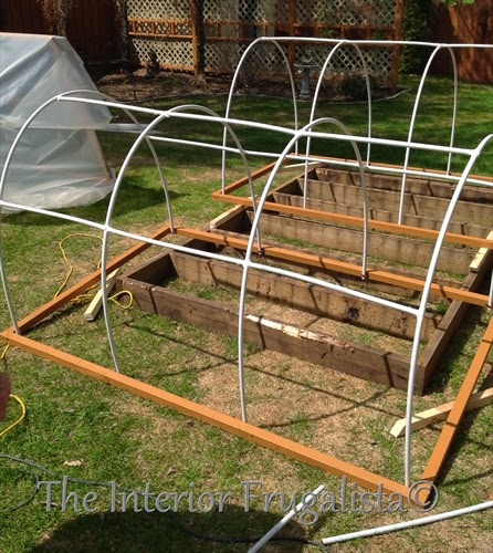 Mini greenhouses for small beds side supports